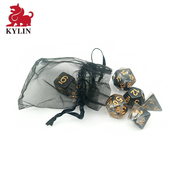 Popular Polyhedral Game Dice 7pc Set for Dungeons and Dragons RPG MTG Table Games D4 D6 D8 <strong>D10</strong> D12 D20