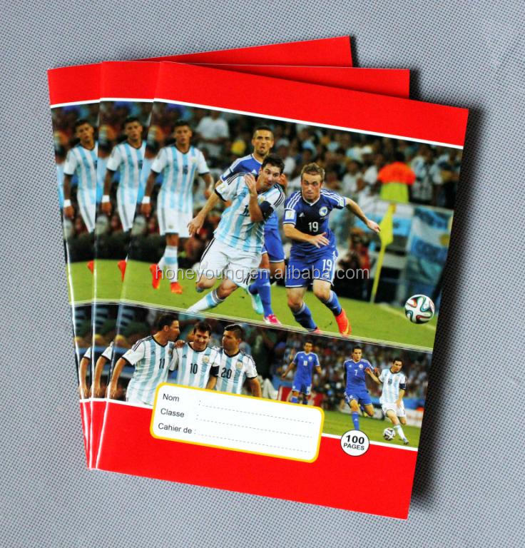 new design French exercise book with football star