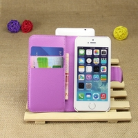 Modern promotional wallet stand leather case for iphone5
