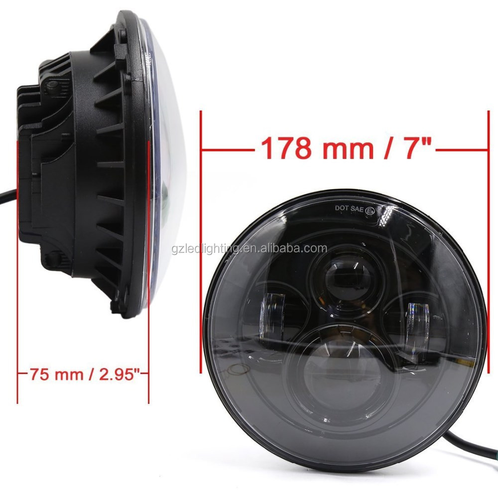 high quality 40w 7 inch <strong>led</strong> motorcycle headlight emark certificate