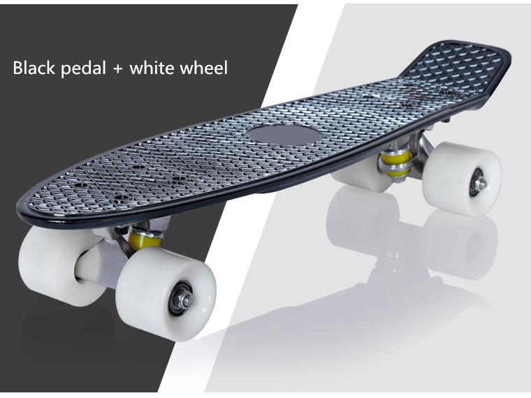 wholesale pp material fish board 22 complete skateboard