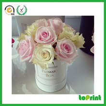 China Gold Suppliers wholesale hat cardboard box round flower box with handle