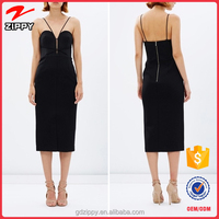 2016 Wholesale Graceful Little Black Bandage Dress