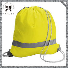 190T or 210T nylon personized sports polyester zipper drawstring bag, small fabric drawstring bags