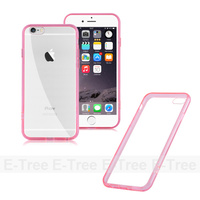 Ultra Thin Clear Hard Back Case For Apple Iphone6s, Silicone Bumper Cover For Apple Iphone 6s