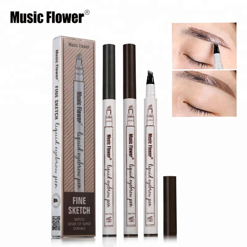 MUSIC FLOWER 3 Colors Fine Sketch Permanent Waterproof Tattoo Eyebrow Pencil 5031
