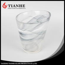 Thin glass water cup colored whiskey glass cup