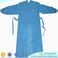 Hygiene SMS Spunbond Non woven disposable Surgical gown Hospital geotextile fabric