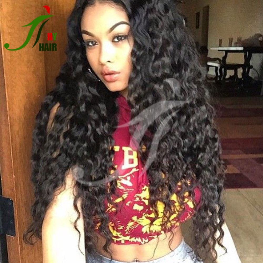 130% density Full Lace Human Hair Wigs For Black Women Brazilian Loose Curly Brazilian Virgin Hair Glueless Lace Front Wig Curly