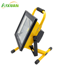 Stadium Smd Rechargeable Led Flood Light 50W White High Power Outdoor Spotlights