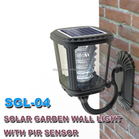 Factory Manufactured Cast Aluminum Garden Lamp Solar Post Light 2W