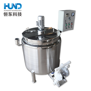 Sanitary stainless steel steam jacketed liquid mixing tank