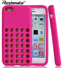 Hotpink Phone Case For Iphone 5C Cellphone Accessories Silicone Cover