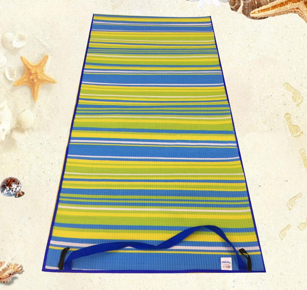 High quality customized logo roll up straw camping beach mat