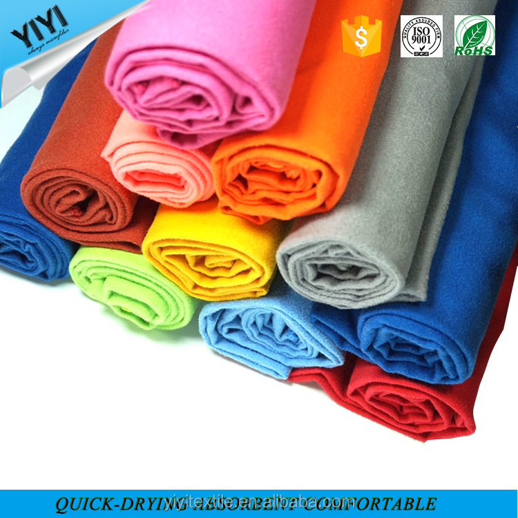 Portable microfiber door gift towel sports towel with plastic packing