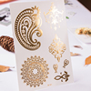 New Fashion Gold Foil Waterproof Jewelry Body Temporary Tattoo Sticker