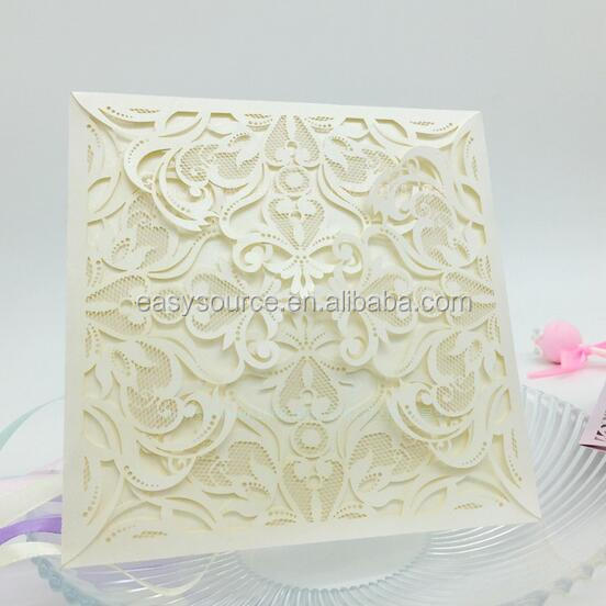 Newest Laser Cutting arabic cards Folding handmade gift card wedding invitation Embossed cards