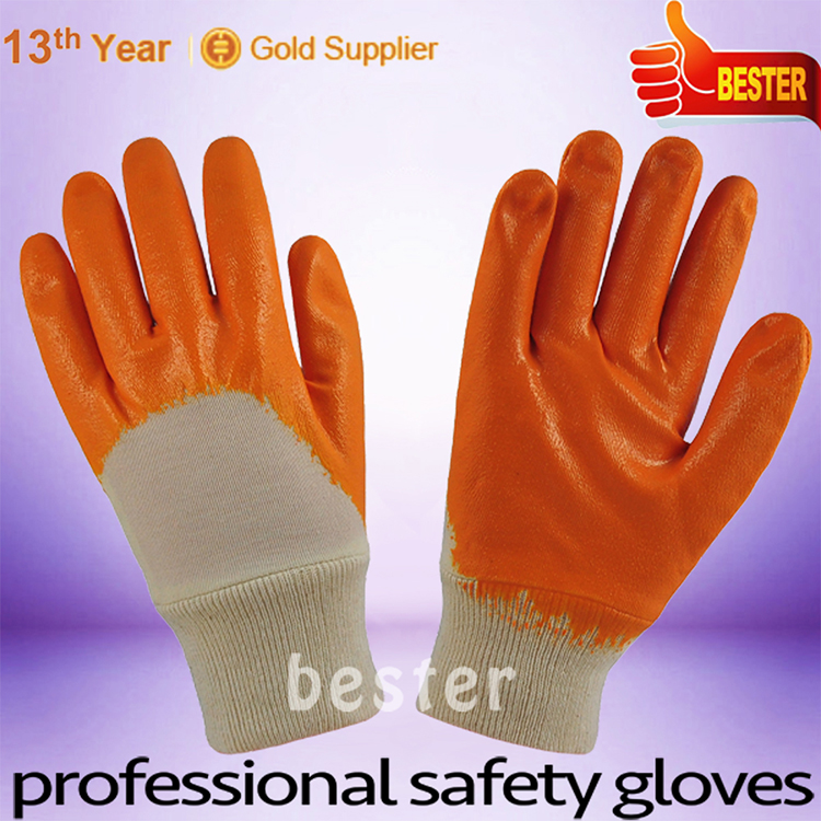 Factory hot sell pvc coated canvas gloves