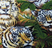 lion printed double-sided coral fleece for blanket and bedding