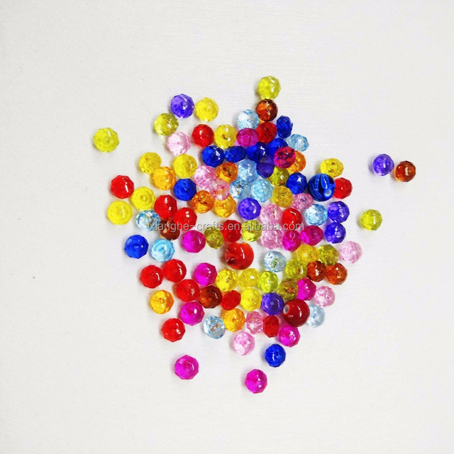 Wholesale plastic healing crystal beads for DIY jewelry making