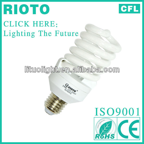 2013 new design philips fluorescent lamp E27 6500K 24W Full spiral energy saving light bulb