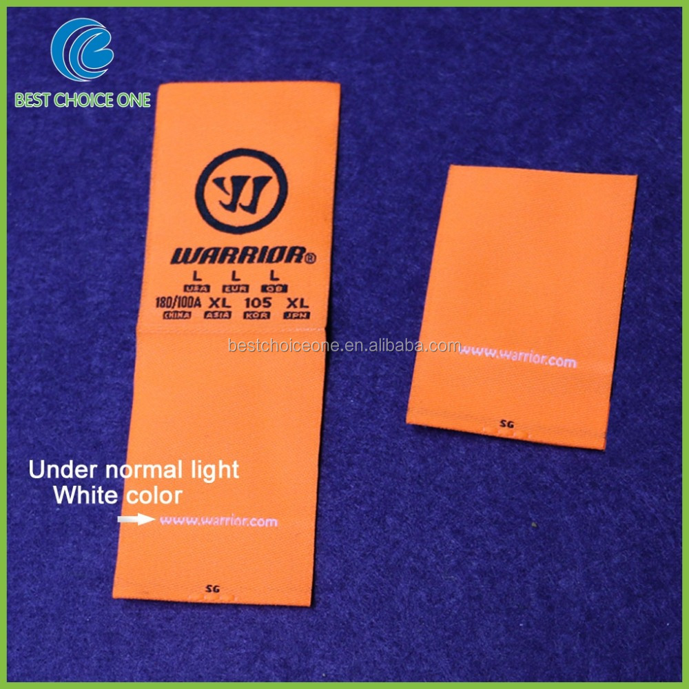 Direct Factory Custom Fluorescence Color Woven Label Maker