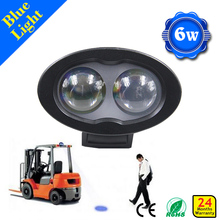 IP68 Bule forklift spotlight 6w 110v Forklift Blue Spot Warning Light led safety light for forklift