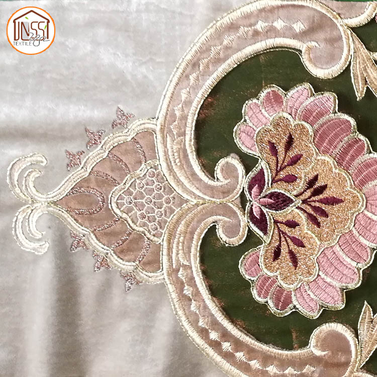 New Designs Velvet Embroidery Lace Fabric for Curtains