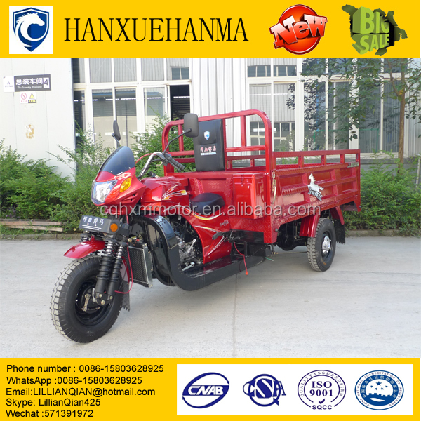 Strong Water-Cooled 200cc Exquisite Design Three Wheel Motorcycle For Adult