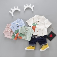 S63285B Kids Boys girl Clothes Summer 2018 New Toddler Boys Clothing Set Baby Boy Clothes Summer Children Clothing sets