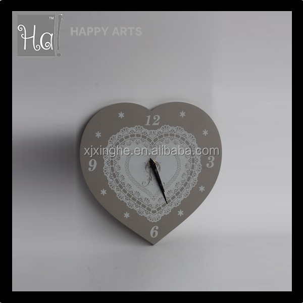 Practical heart shape MDF wall clock with new design