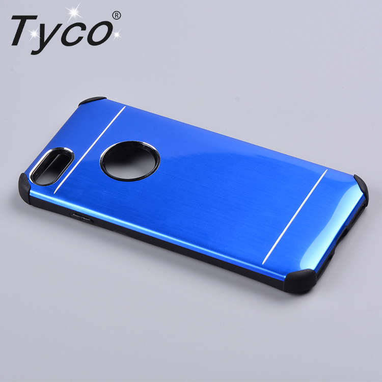 360 degree ultra-thin metal hard phone case for iphone 8