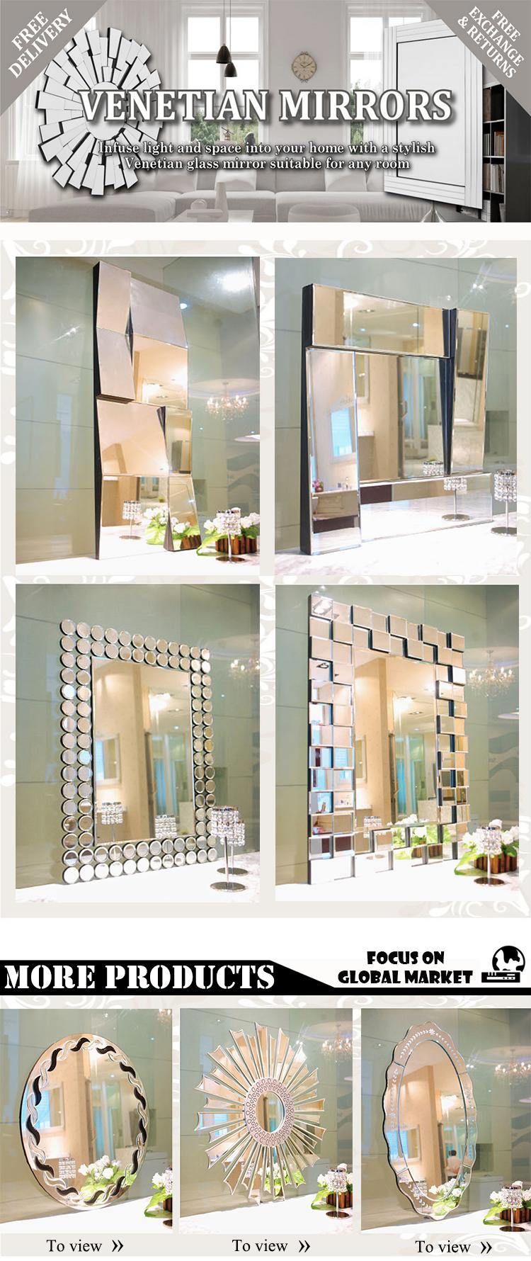 Bonito baño bisagras hoja de oro antiguo espejo de pared marco ...