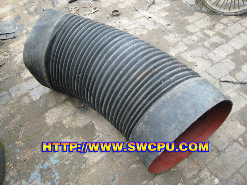 Rubber flexible corrugated electrical conduit pipes