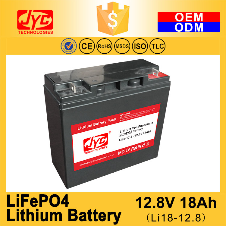 Cycle Life >2000 cycles @1C 100%DOD 12.8V 18Ah Lithium ion LiPO LiFePO4 Battery