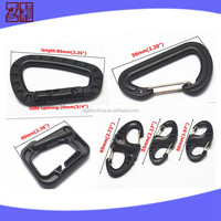 plastic s hook for hanging,carabiner clips for keychain connection,carabiner keychain