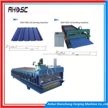 alvenized Coat Metal Tole Roof Tile Sheet Mill Roll Forming Machine For Sale , Corrugated Rib R Panel RollForming Machine