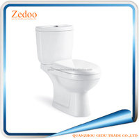 ZD-8018 Sanitary ware bathroom floor mounted two piece ceramic toilet from China