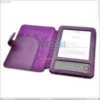 Litchi Skin With Fuzz Inside, Leather Case Cover for Amazon Kindle 3 Kindle Keyboard 3G eReader P-AMAZKINDLE3CASE007