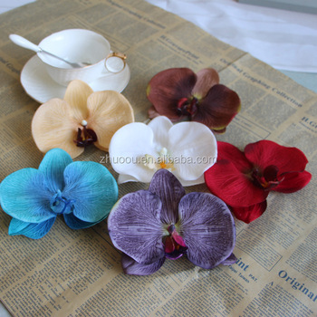 Dia 12cm Artificial Orchid Silk Flower Heads For Hat Hair Decoration