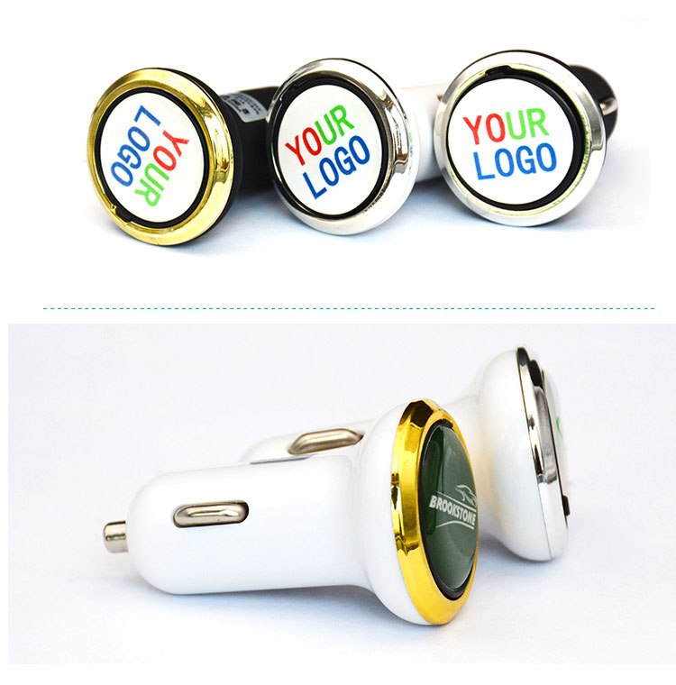 new model oem brand dual usb car charger with ce fcc rohs
