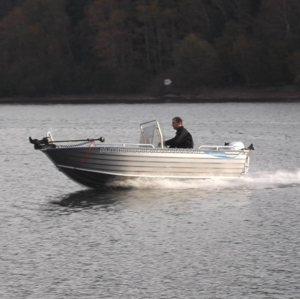 Aluminum boat with side console buy aluminum boat for Small aluminum fishing boats