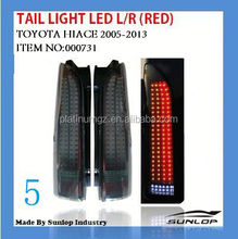 toyota hiace body parts NEW MODEL #000731 hiace latest tail light LED(RED) for hiace 2005-2013,hiace200 commuter parts