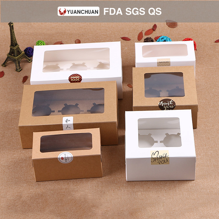 QS brown paper cupcake box template