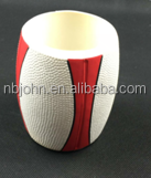white Rugby cup PU Foam Can Coolers Stubby Holder