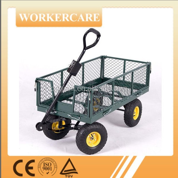 Welded garden tool cart
