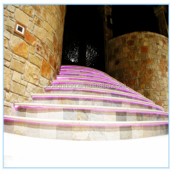 Architectural decorative colorful and energy saving light solid core side glow fiber optic