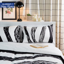 ALLBRIGHT bedding classical zebra queen comforter sets duvet cover