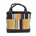 China wholesale insulated cotton canvas tote lunch box cooler bag with drawstring closure