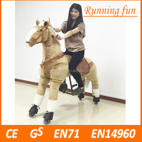 Hot !! CE/EN71 mechanical riding horse,wooden rocking horse toy, ride on horse toy pony for sale